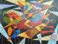 Rayar Art Gallery Pool Oil Painting