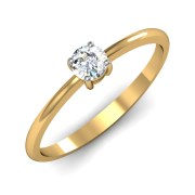 Mani Jewel RL-04065  Prong 5pts Solitaire Ring