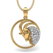 Mani Jewel PD-00766 Capricorn Zodiac Sign Pendant