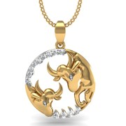 Mani Jewel PD-00767 Taurus Zodiac Sign Pendant