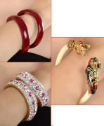 Multicolor Bangles Combo Of 3