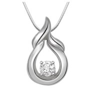 "Surat Diamond Happiness is On Real Diamond & Sterling Silver Pendant with 16"" Chain (SDP162)"