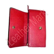 Red Leather Ladies Wallet