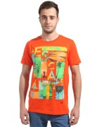 The Edge Orange Round Neck T-Shirt