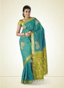 Kanchipuram Paisley Print Silk Saree