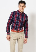 Central Zone Check Formal Shirt