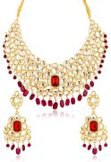 Touchstone Kundan Work Necklace Set