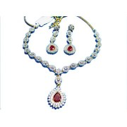 Poddar Jewels A.D Necklace Set-1