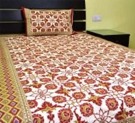 Bombay Dyeing Rosebud Double Bed Sheet (1+1)