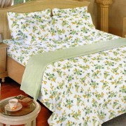 Bombay Dyeing Rosebud (1+1) Double Bed Sheets