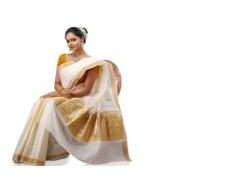 White & Yellow Cotton Saree