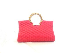 Michelle Ethnic Collection Clutch Ladies-Pink