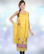 Deepika Flowers Unstitched Suit