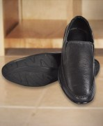 Leather Shoes Black SF 7011 Bk