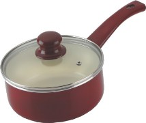Alda Ceramic Coated Sauce Pan with Glass Lid 1.3 L