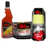 3M Car Care Combo: Shampoo+ Cream Wax+ Microfiber Cloth