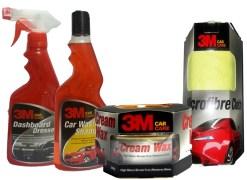 Combo - 3M - Dashboard Dresser+ Car Wash Shampoo+ Cream Wax+ Microfiber Cloth