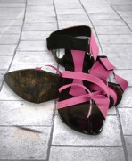 Purple & Black Sandal For Women