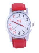 My Konnect-003-White-Red Analog Watches