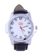 My Konnect-005-White-Black Analog Watches