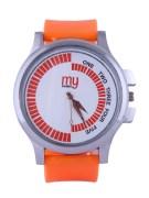 My Konnect-007-White-Orange Analog Watches