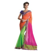 Adah Fashions -564-4008A-Chiffon Padding FabricDesigner Saree