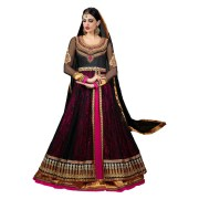 Adah Fashions -561-1002-Premium Georgette with Net Brasso layer Anarkali Dress