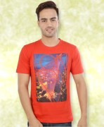 Red Printed Cotton T-Shirt
