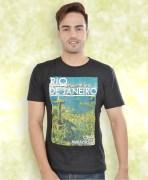 Black Printed Cotton T-Shirt