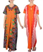 Cotton Printed Nightwear Combo Of 2