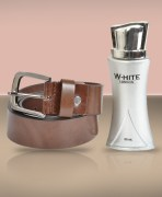 Leather Belt & London Perfume Combo