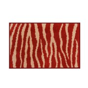 Skin Anti Skid Cotton Bathmat Red