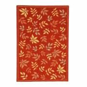 Leaf Area Rug Red 93007