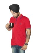 Sizzling Red Cotton T-Shirt. For Men