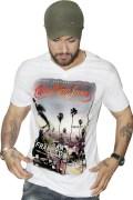 Calvin Klein White 3 D effect T-shirt. For Men