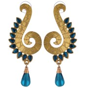 Kshitij Jewels-KJM 110-Traditional Peacock Earring