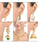 Rakshita Pendant Set And Four Earring Combo