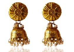 Kshitij Jewels-KJ 006-Classic Gold Plated Jhumki Earring