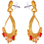 Kshitij Jewels-KJ 022-Classic Gold Plated Hangging Earring