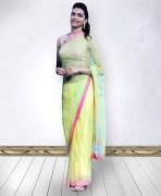 Deepika Padukone Neon Bollywood Saree