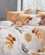 Tima Klasston Light Grey Multicolor Double Bedsheet Set