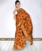 Tripura Embose Block Print Silk Saree