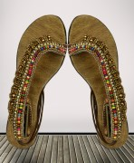Multicolor Studded Sandals