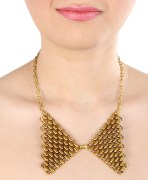 Gold Mesh Collar Necklace