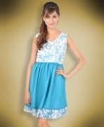 Blue Printed Dress