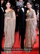 aishwarya golden saree