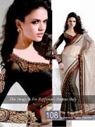 aishwariya sabia black net saree