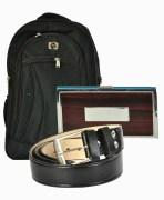 Backpack, Card Holder & Belt Combo