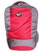 Spyki Red & Grey Awesome Laptop Backpack Bag LP11