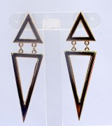 Metallic Dangler Earrings- CS103